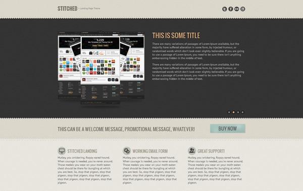 Stitched - Landing Page Theme