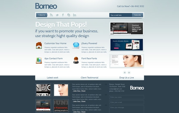 Borneo Landing Page