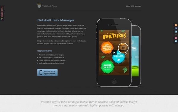Nutshell App - HTML Mobile Application Template