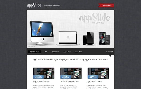 AppSlide - Professional App Site Template