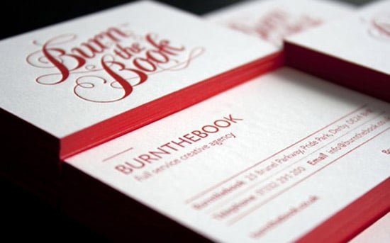 50 awesome must see business card designs designrfix red letterpress cards reheart Images