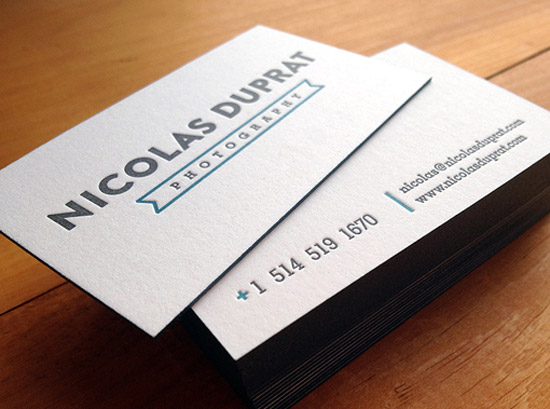 White Letterpress Cards