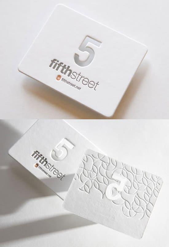 Beautiful White Letterpress