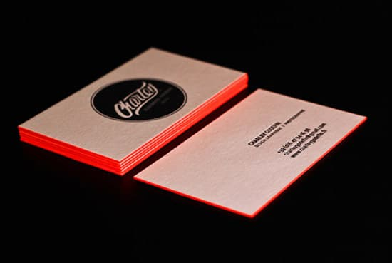 Bright Orange Letterpress