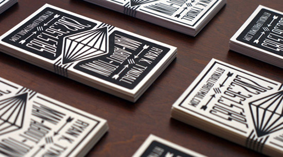 50 awesome must see business card designs designrfix black white letterpress fbccfo Gallery