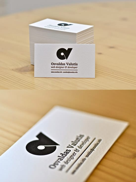 Black White Letterpress