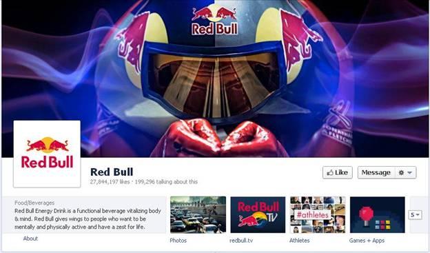 Redbull Facebook Fanpage