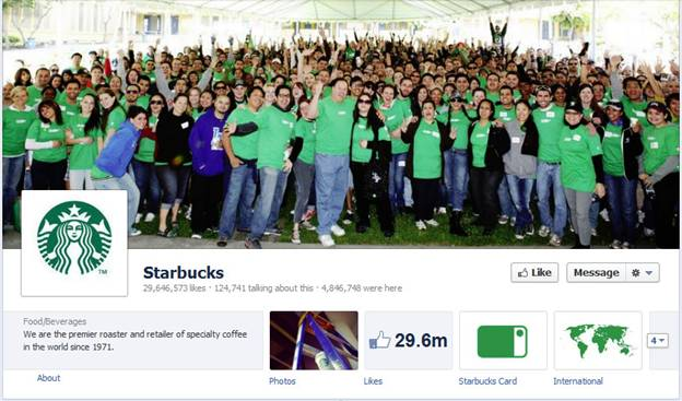 Starbucks Facebook Fanpage