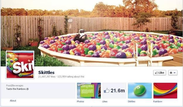 Skittles Facebook Fanpage