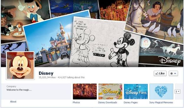 Disney Facebook Fanpage
