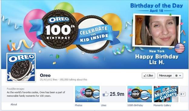 Oreo Facebook Fanpage