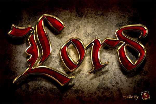 Create a Royal Gold Text Effect in Photoshop Using Layer Styles
