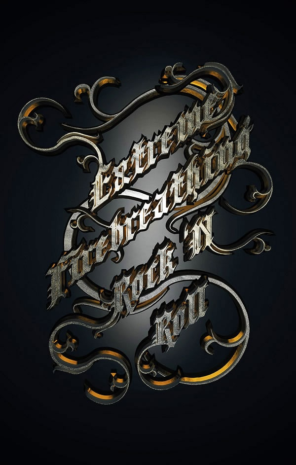 Create a Metallic Type Treatment in Photoshop and Cinema 4D
