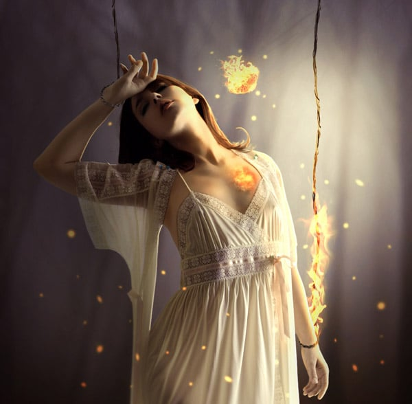 Create the Emotional Photo Manipulation Firing Heart