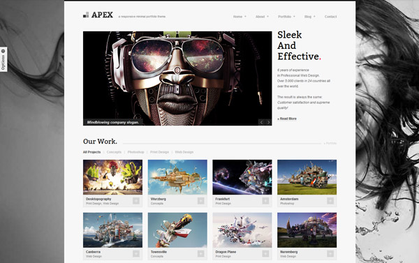 Apex Responsive Portfolio WordPress Theme