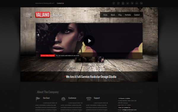Valiano Responsive WordPress Theme