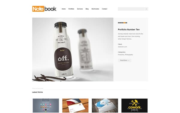 Notebook - Responsive WordPress Portfolio Theme