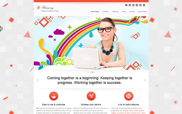 Harmony - Multipurpose WordPress Theme