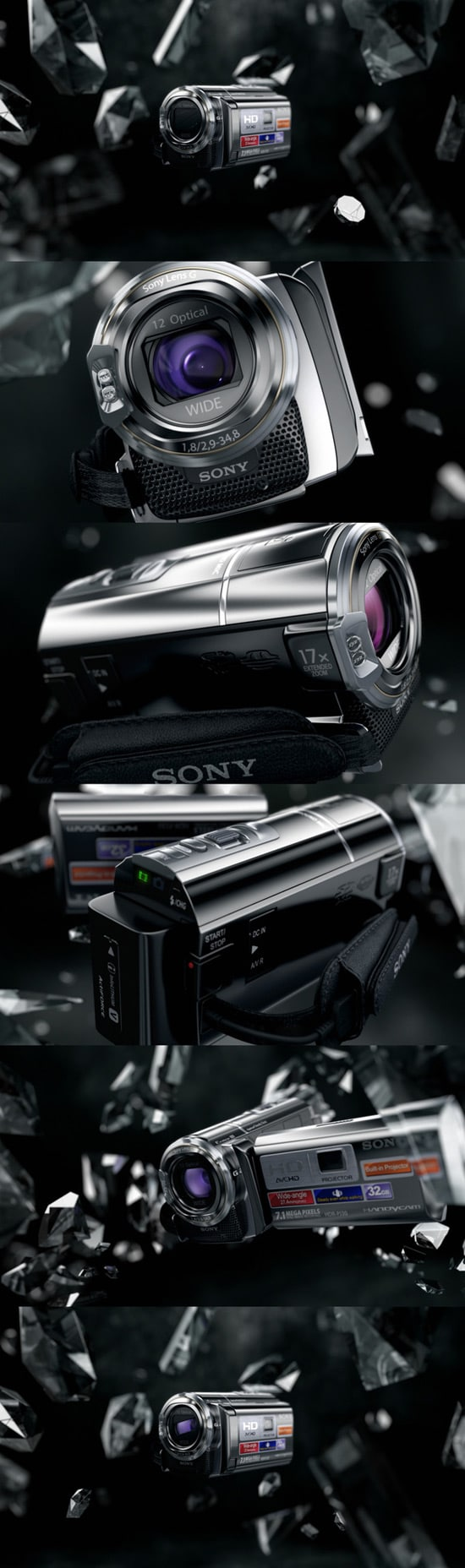 Visualization for promo site Sony HD camera