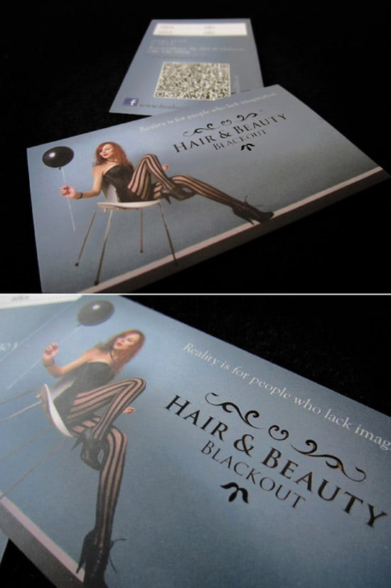 Black Out Hair | Business Cards