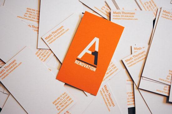 A1 renovation business cards