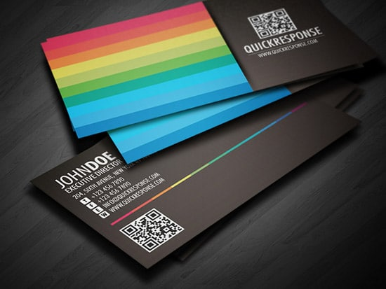 50 hot new business card designs designrfix quick response business card design colourmoves Gallery
