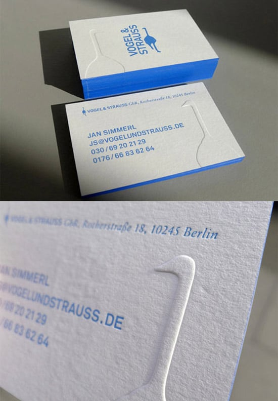 50 hot new business card designs designrfix blue edged letterpress reheart Images