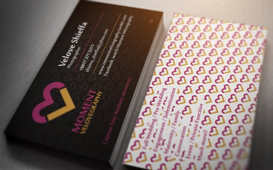 Moment Velovegraphy Business Card Design