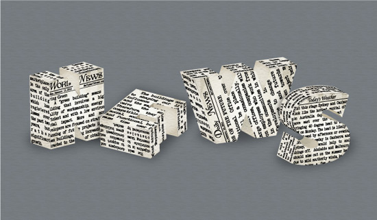 Create a 3D Newspaper, Text Effect in Adobe Illustrator
