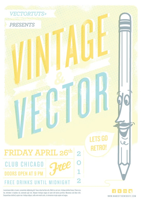 Vintage Vector Design Workflow: Creating a Retro Flyer Design