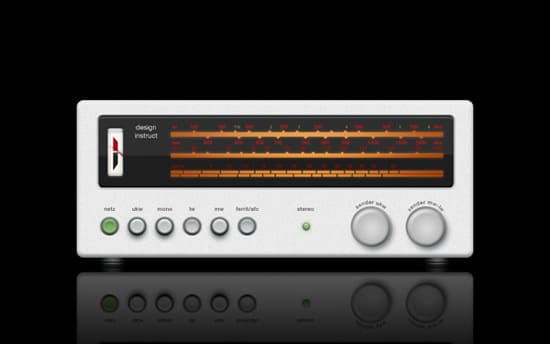 Create a Shiny Stereo Receiver in Photoshop from Scratch