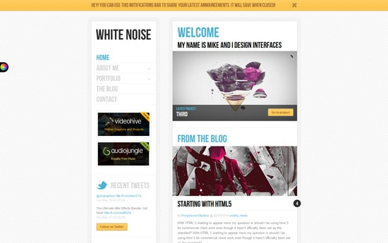White Noise - Responsive WordPress Theme