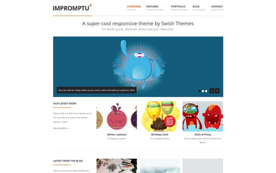 Impromptu - Responsive WordPress Theme