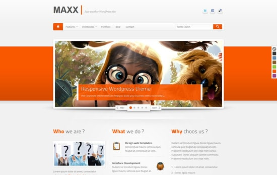 Maxx - Responsive Creative WordPress Theme