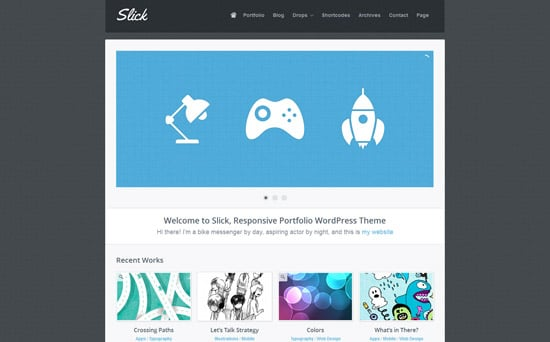 Slick Responsive Portfolio WordPress Theme