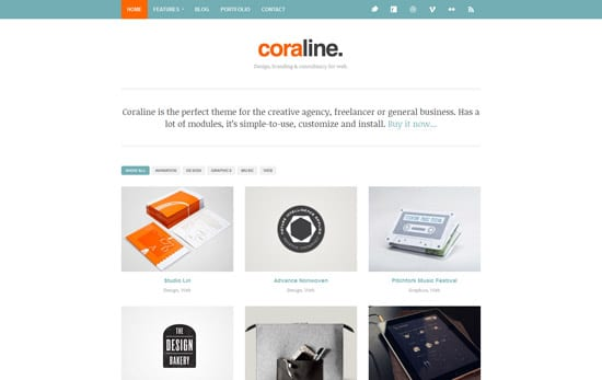 Coraline Ajax And Responsive WordPress Theme