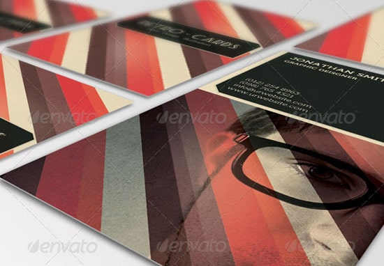 Print Templates - Business Card - Retro