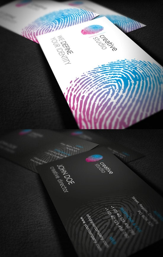 RW Fingerprint Creative Studio Corporate Identity
