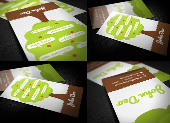Creative Tree Business Card