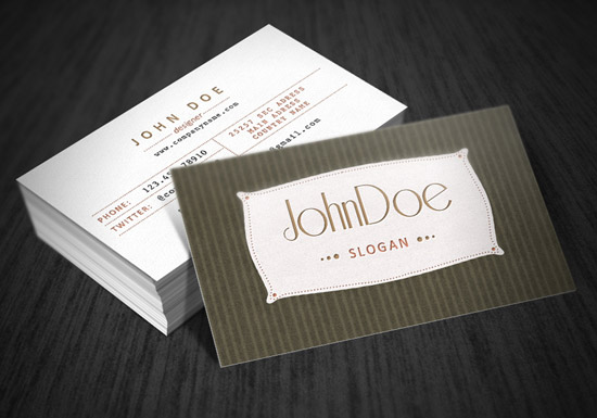 60 premium business card templates designrfix classic retro business card accmission Image collections