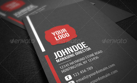 Neat Corporate Business Card