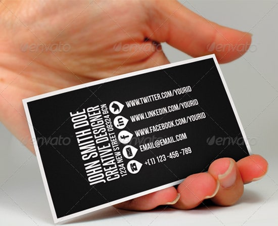 60 premium business card templates designrfix clean business card ii colourmoves Image collections