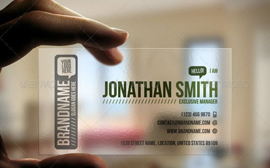 60 premium business card templates designrfix transparent business card friedricerecipe Choice Image