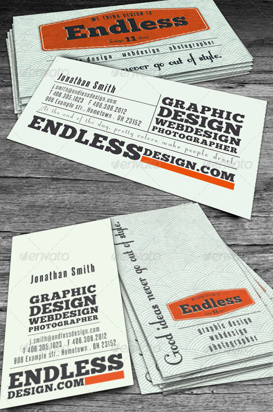 Endless Retro Business Card