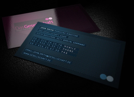 Dots Business Cards [7 Colors]
