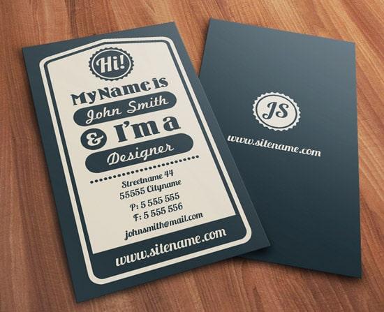 60 premium business card templates designrfix vintage typographic business card accmission Image collections
