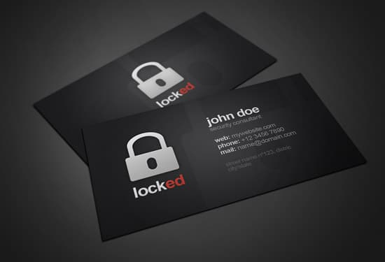 Locked Business Card
