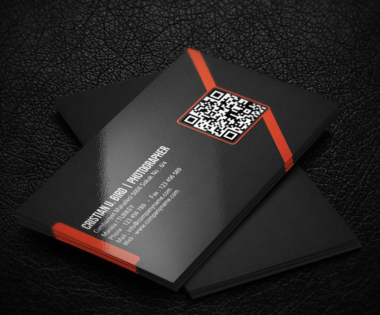 60 premium business card templates designrfix qr corporate business card accmission Image collections