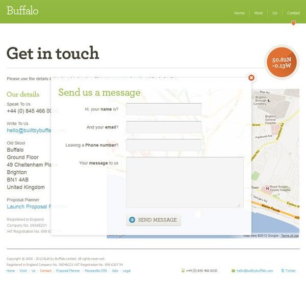 Examples Of HTML Contact Forms In Web Design - designrfix.com