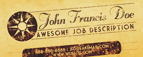 Create a Vintage Business Card Design in Photoshop